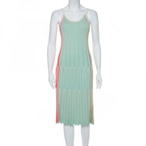 Kenzo Multicolor Rib Knit Fit & Flare Midi Dress XS - used