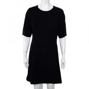 Kenzo Navy Blue Wool Paneled Short Dress L - used