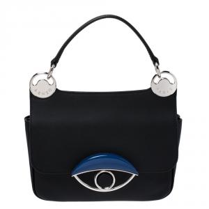 Kenzo Black/Blue Leather Tali Shoulder Bag