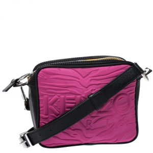 Kenzo Tri-Color Perforated Neoprene and Leather Camera Bag
