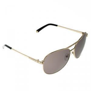 نظارة شمسية أفياتورز كورلوف KOR2024 بنية/ذهبية مزخرفة