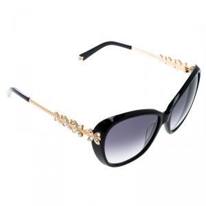 نظارة شمسية كرولوف KOR2032 فراشة مرصعة كريستال سوداء مدرجة