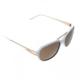 نظارة شمسية كورلوف أفياتور KOR2034 بيضاء ذهبية عاكسة