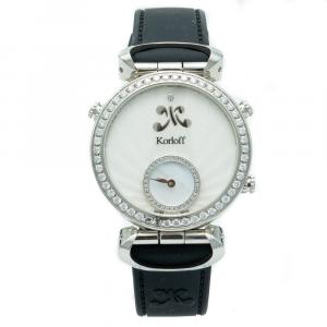 Korloff Cassiopee Reversible Diamond Dial & Bezel Steel Women's Watch 32 MM