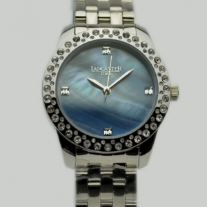 Lancaster Blue MOP SS Ladies Wristwatch