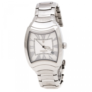 Lancaster Silver Stainless Steel Universo Tempo REF.0324 Women's Watch 33.70 mm