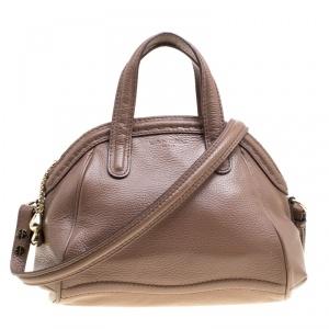 Lancel Brown Leather La Charmeuse Top Handle Bag