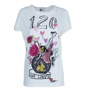 Lanvin 120 Print Embellished T-Shirt M