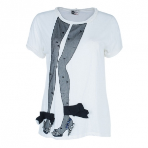 Lanvin Fishnet Stocking Embellished T-Shirt M