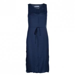 Lanvin Navy Belted Slip Dress S