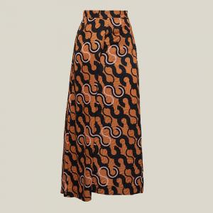 LAYEUR Brown Mae Printed Cotton-Silk Culottes FR 46