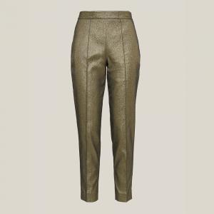 LAYEUR Gold Amos Metallic Cotton-Blend Trousers FR 46