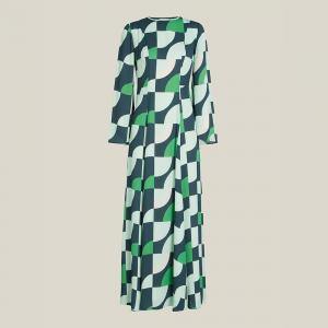 """فستان ليور """"وارتن"""" بقصّة ضيقة تتسع تدريجياً عند الأسفل بطول ماكسي أخضر FR 34"""