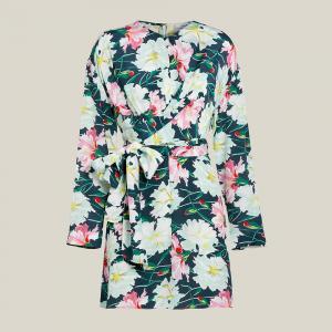 LAYEUR Multicoloured Reba Floral Print Wrap Tunic FR 34