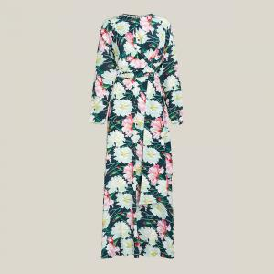 LAYEUR Multicoloured Ruby Floral Print Wrap Maxi Dress FR 42