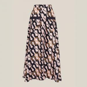 LAYEUR Pink Fitzgerald Button-Down Maxi Skirt FR 48