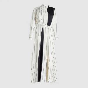 فستان ماكسي ليور بيرغمان قصات أبيض فوايل مقاس فرنسي 34