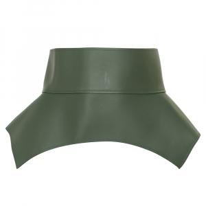 Loewe Green Leather Obi Corset Belt M