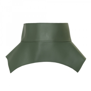 Loewe Green Leather Obi Corset Belt M