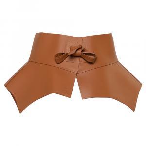 Loewe Tan Leather Obi Corset Belt M
