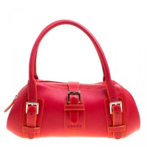 Loewe Red Leather Satchel