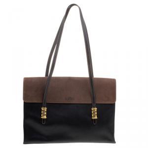 Loewe Black/Brown Leather Business Bag