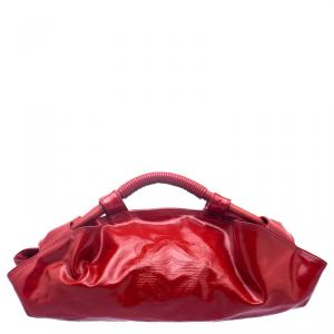 Loewe Red Patent Leather Aire Hobo
