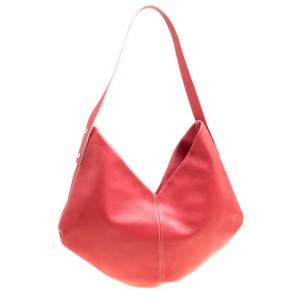 Loewe Cerise Red Leather Hobo