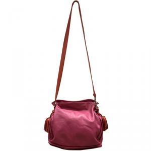 Loewe Two Tone Leather Flamenco Knot Bag