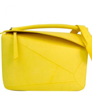 Loewe Yellow Rubber Puzzle Bag