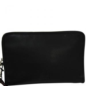 Loewe Black Leather Clutch Bag