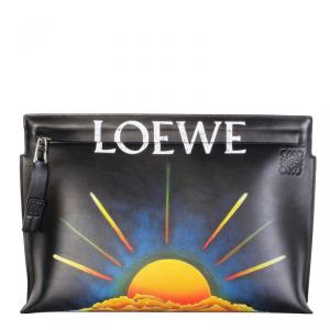 Loewe Black Leather Sol Negro Pouch Bag