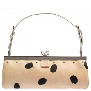 Loewe Multicolor Printed Leather Frame Shoulder Bag