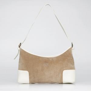 Loewe Small Suede Brown Shoulder Bag