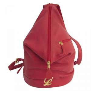 Loewe Red Leather Backpack