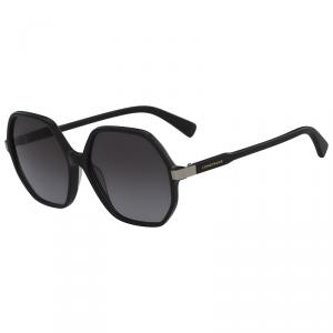 Longchamp Black LO613S Oversized Square Sunglasses