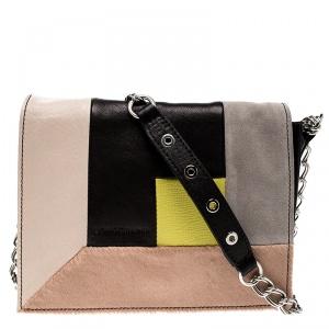 Longchamp Mutlicolor Leather Colorblock Art Walk Crossbody Bag