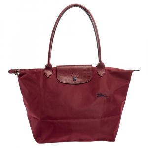 Longchamp Burgundy Nylon Le Pliage Tote