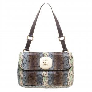 Longchamp Multicolor Snake Embossed Gatsby Shoulder Bag