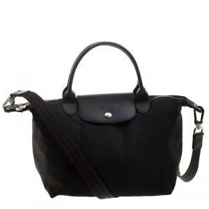Longchamp Black Nylon Small Le Pliage Tote