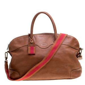 Longchamp Brown Leather Au Sultan Top Handle Bag