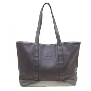 Longchamp Grey Leather Tote
