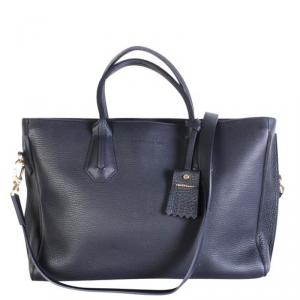 Longchamp Blue Leather Tote Bag