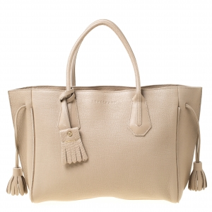 Longchamp Beige Leather Tote