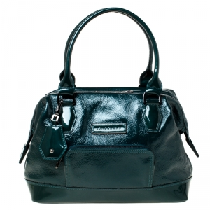 Longchamp Dark Green Patent Leather Legende Satchel