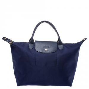Longchamp Blue Nylon Le Pliage Tote