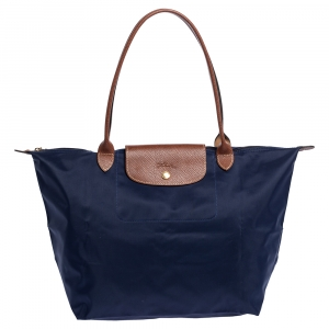 Longchamp Navy Blue Nylon Le Pliage Tote