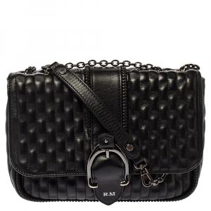 Longchamp Black Leather Amazone Shoulder Bag