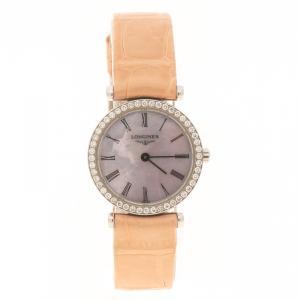 Longines Purple Mother of Pearl Stainless Steel Diamond La Grande Classique De Longines Women's Wristwatch 24 mm
