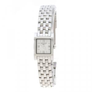 ساعة يد نسائية لونجين دولتشي فيتا L5.161.4 ستانلس ستيل بيضاء 16 مم